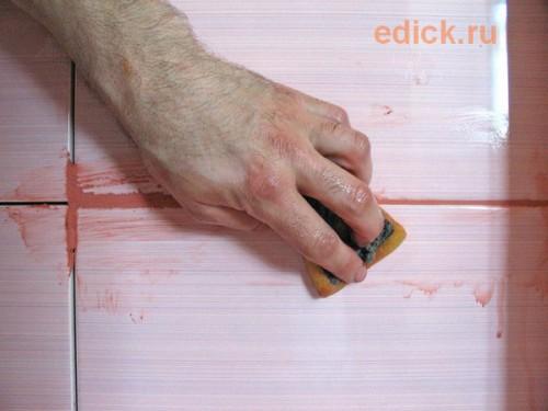 Затирка швов керамической плитки, как затереть плитку
