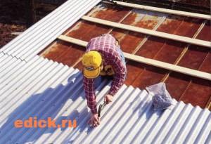 Ремонт шиферной крыши, как отремонтировать крышу из шифера