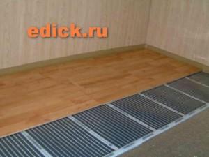 Электрический тёплый пол под ламинат