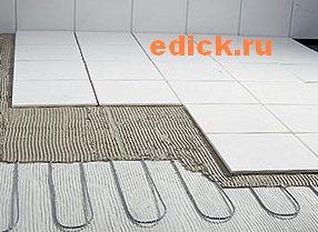 Укладка электрического теплого пола , установка электрического теплого пола.